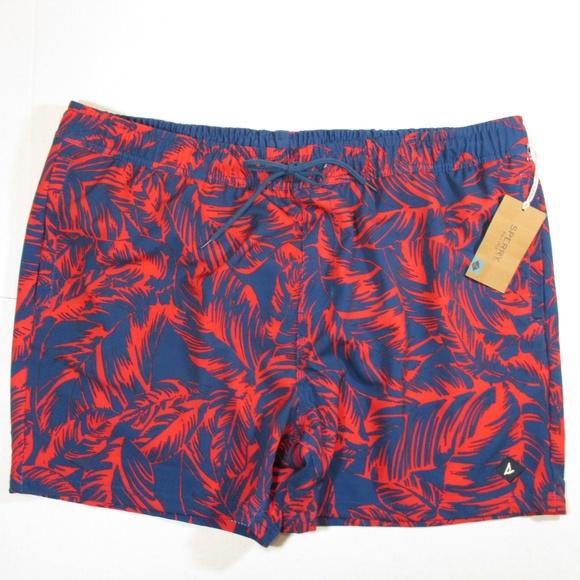 new SPERRY mens XL swim trunks shorts red blue c1ba44ef7b66